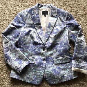 Banana Republic floral watercolor blazer jacket